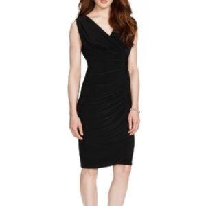 Lauren Ralph Lauren Black Essentials Ruched Dress
